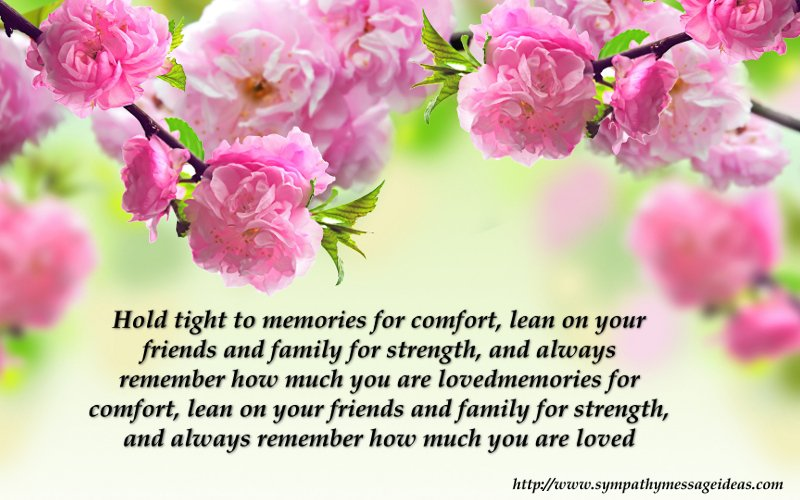 sympathy card messages saying