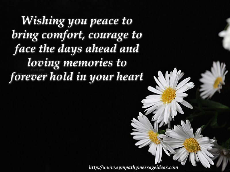 sympathy card message sayings flowers