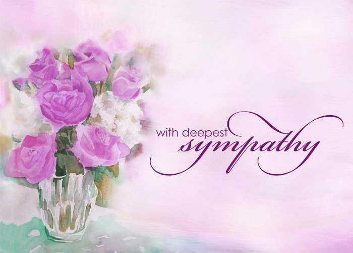 how to say sympathy in a sentence