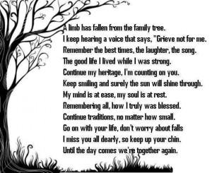 sympathy poems for memorial