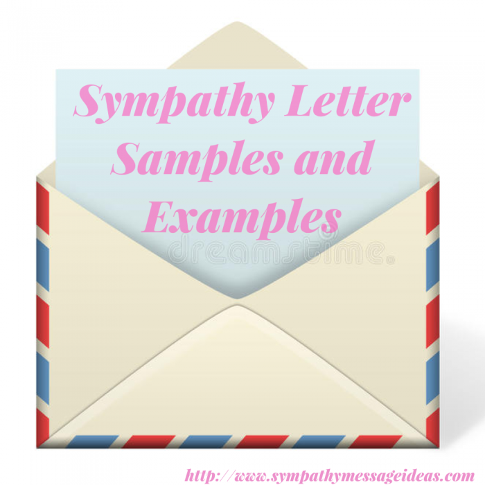 Sympathy letter samples and examples