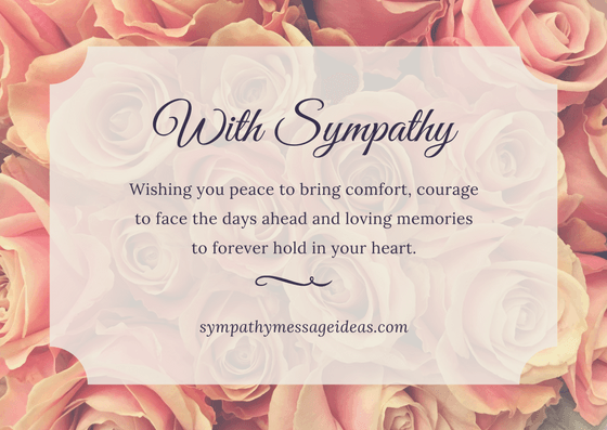 With Sympathy Condolence Message