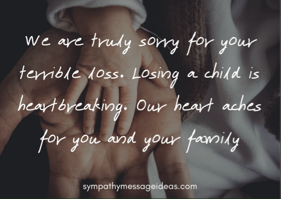 Words Of Sympathy For Loss Of Child Sympathy Card Messages