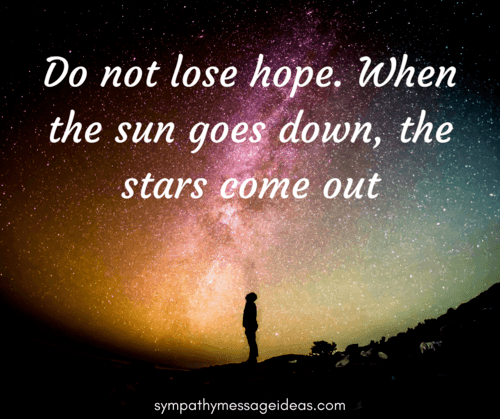 Do Not Lose Hope Condolence Image
