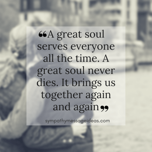 Great Soul Condolence Quote