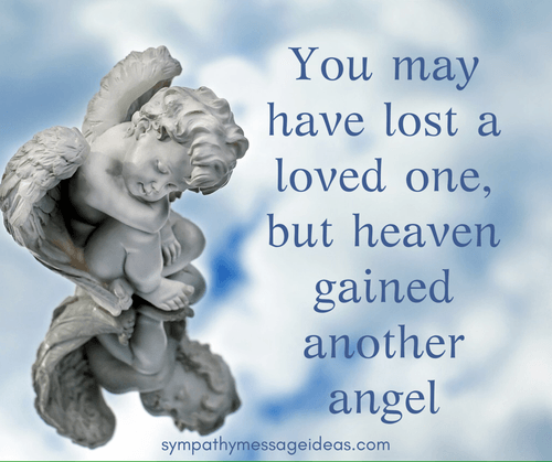 Heaven Gained an Angel Sympathy Quote