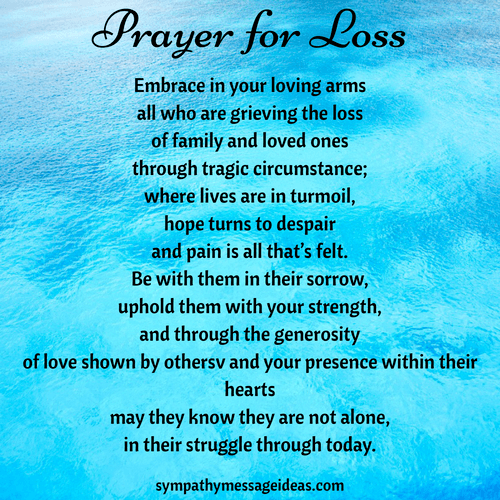 Prayer for grieving wife