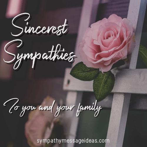 Sincerest Sympathy Image
