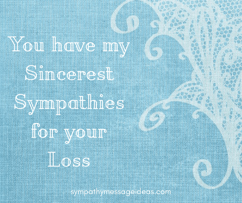 Sympathy for Your Loss Image