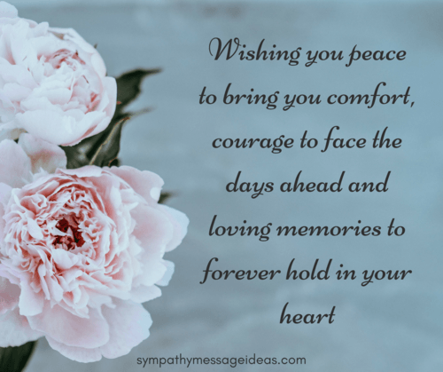 Sympathy Messages Words Of Comfort