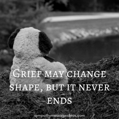Grief May Change But it Never Ends