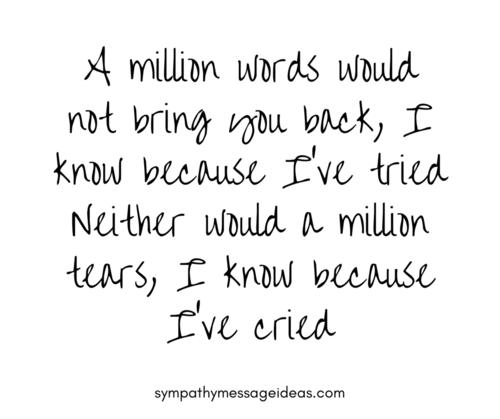 Sympathy Verse