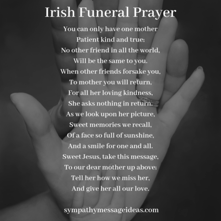 Irish funeral poem for mom