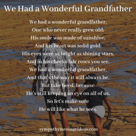 Grandfather funeral poem