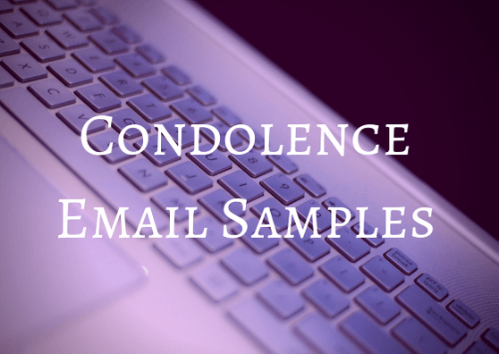 condolence email samples and examples
