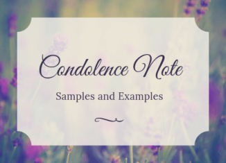 Condolence Note Samples and examples