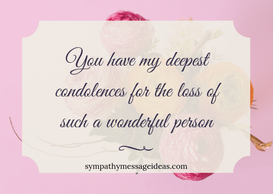 Sympathy message for a loved one