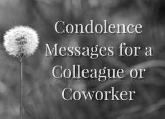 condolence messages for colleagues and coworkers