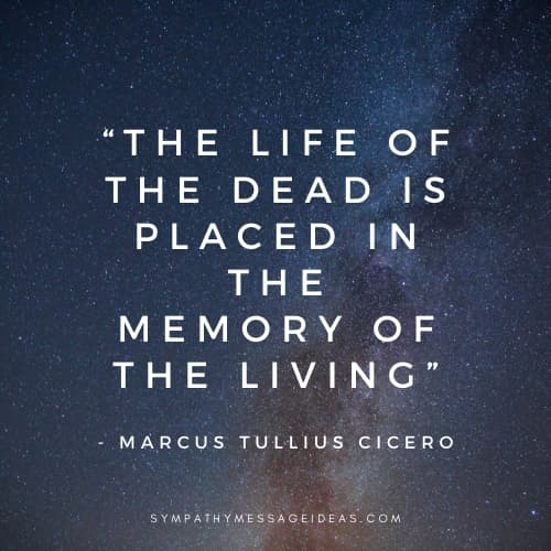 Cicero deep death quote