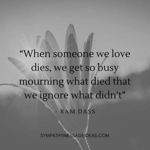 ram das comforting death quote