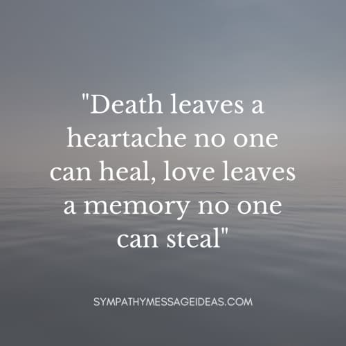 sad death quote death leaves a heartache