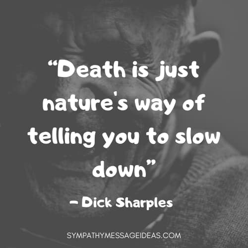dick sharples funny death quote