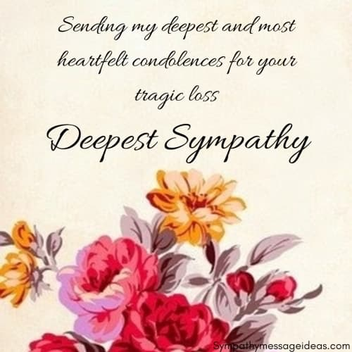 heartfelt condolences deepest sympathy image