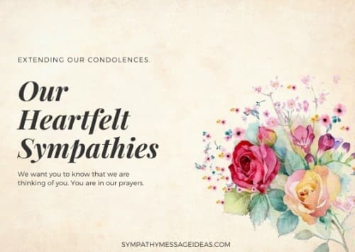 heartfelt sympathies quote image