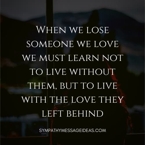 inspirational quote about losing a loved one