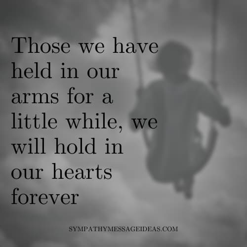loss of child gone too soon quote