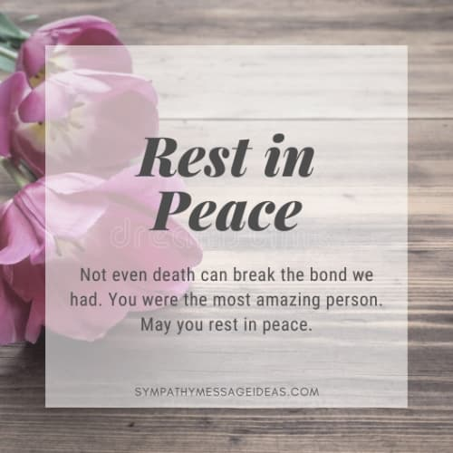 may you rest in peace quote message