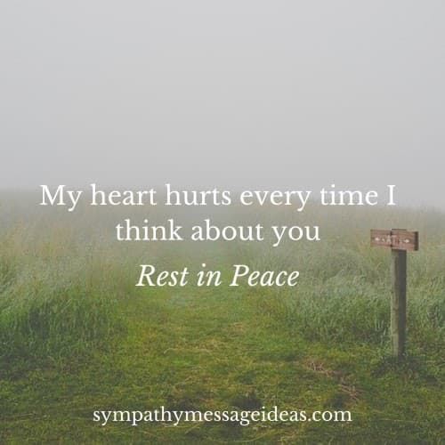 my heart hurts rest in peace quote