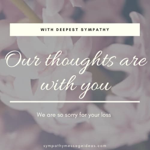 our thoughts are with you image