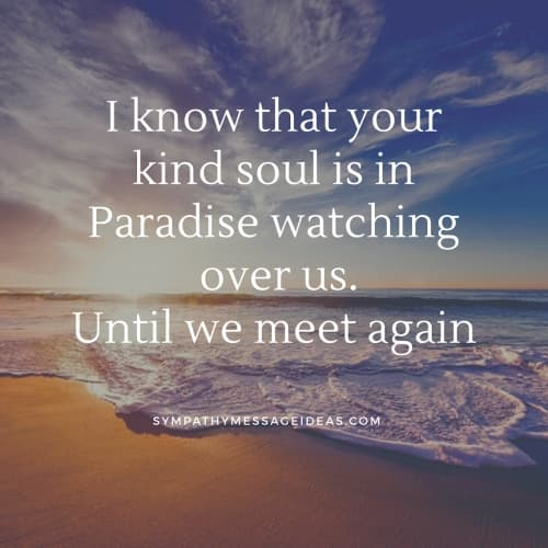 your soul is in paradise rip quote
