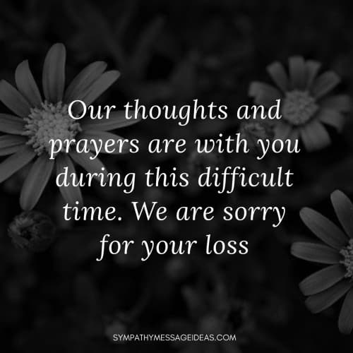 sympathy message quote