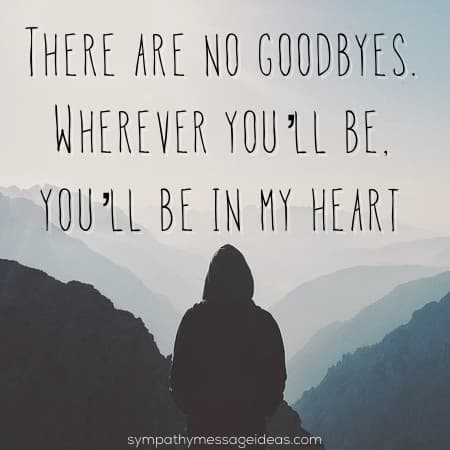 there are no goodbyes rip quote