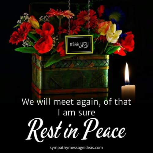 we will meet again rip message