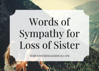 words of sympathy for loss of sister