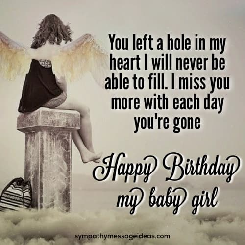 happy birthday my baby daughter in heaven