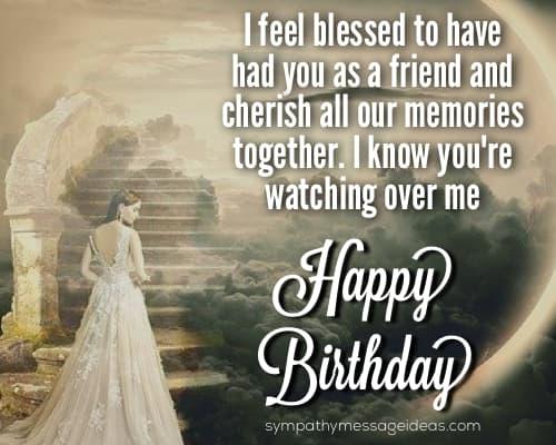 happy birthday in heaven my friend