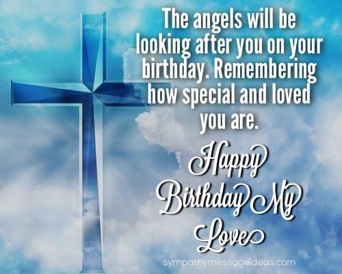 happy birthday my love in heaven