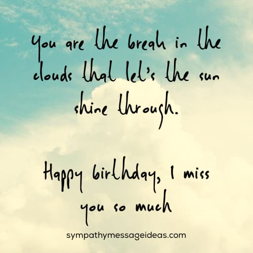 I miss you so much birthday