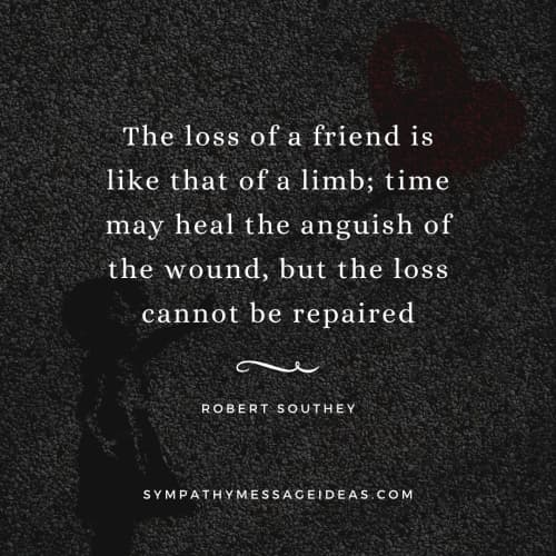 Sad quote about losing a friend