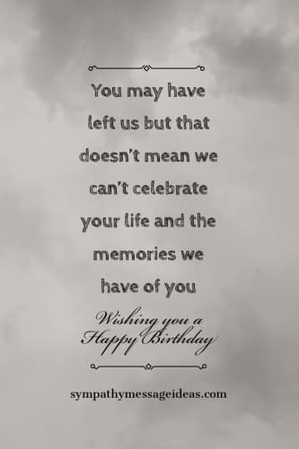 wishing you happy birthday in heaven