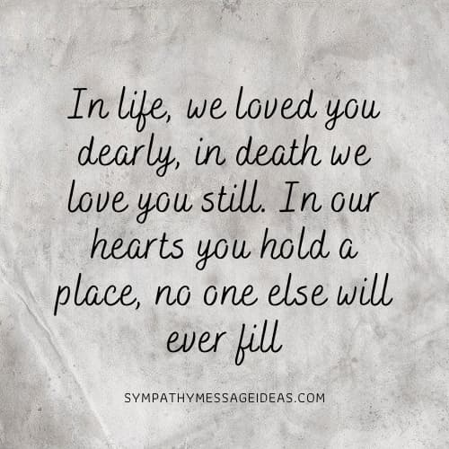 beautiful quote about losing a loved one