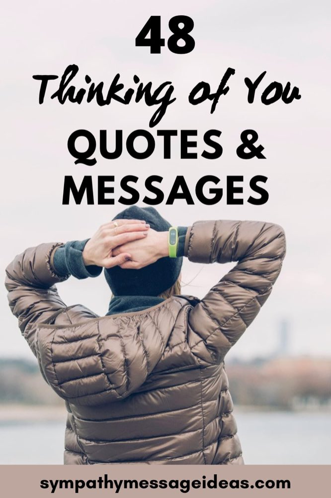 thinking of you quotes and messages small Pinterest image