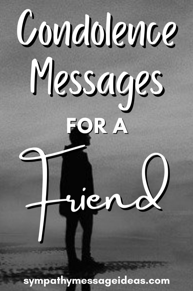 condolence messages for a friend Pinterest small