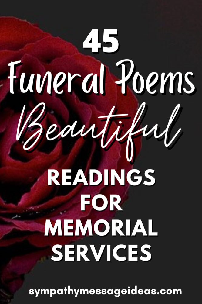 Funeral poems Pinterest small