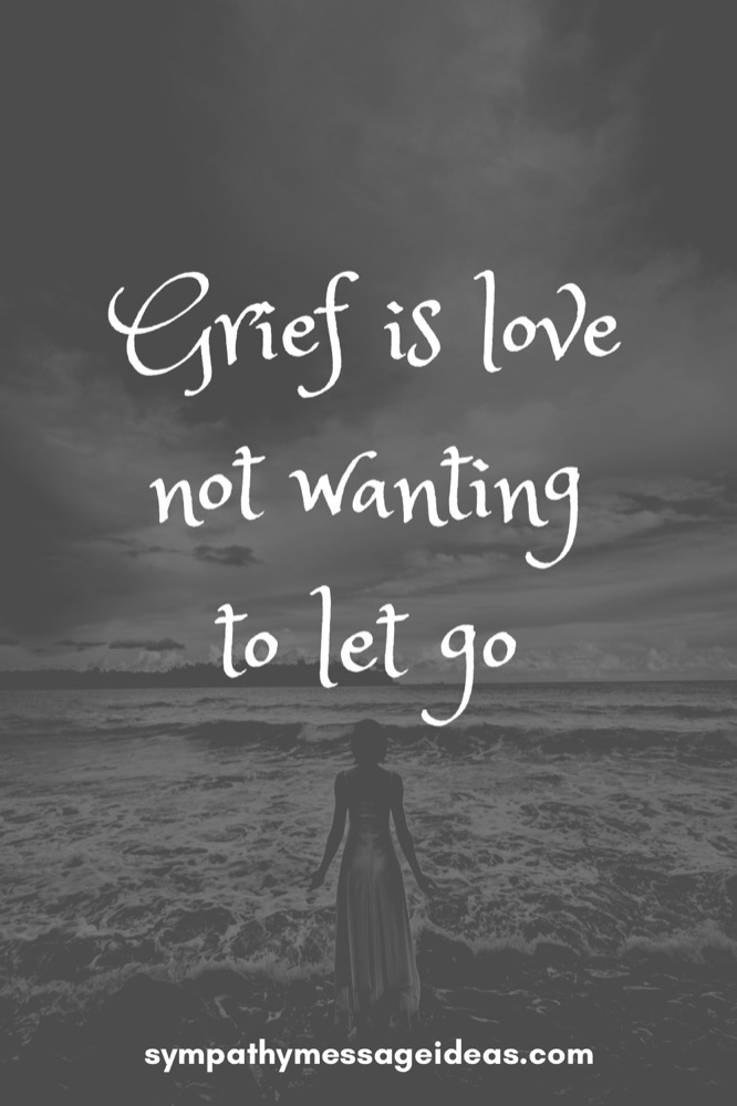 grief is love not wanting to let go quote