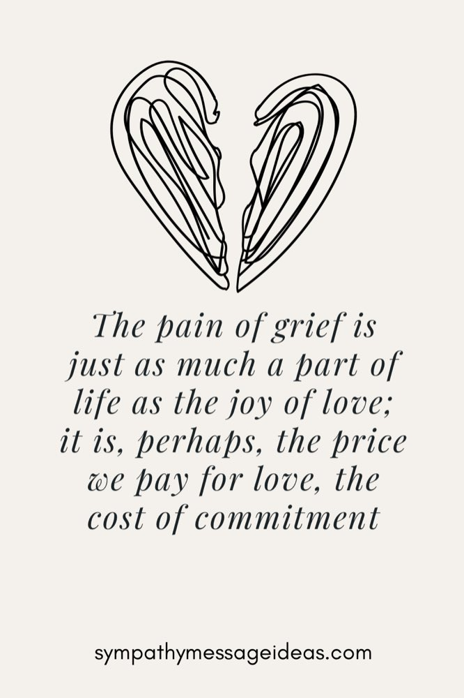 the pain of grief is the price we pay for love quote